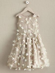 Chasing fireflies 3D flowers dress gown 4 4T xs s